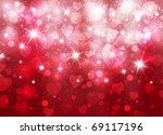 vector beautiful valentine... | Shutterstock .eps vector #69117196