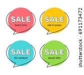 minimal style flat speech... | Shutterstock .eps vector #691173472