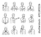 vector illustration character... | Shutterstock .eps vector #691185226