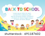 education object on back to... | Shutterstock .eps vector #691187602