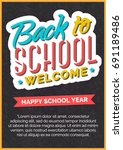 back to school card with color... | Shutterstock .eps vector #691189486