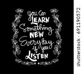 hand lettering calligraphy of... | Shutterstock .eps vector #691190572
