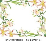 lily flowers background | Shutterstock . vector #69119848