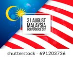 31 august. malaysia... | Shutterstock .eps vector #691203736