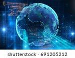 3d rendering of  earth on hi... | Shutterstock . vector #691205212