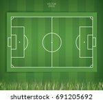 football field or soccer field... | Shutterstock .eps vector #691205692
