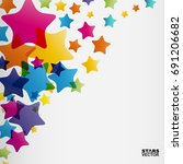 stars background  abstract... | Shutterstock .eps vector #691206682