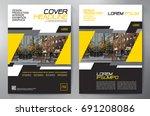 business brochure. flyer design....   Shutterstock .eps vector #691208086