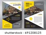 business brochure. flyer design.... | Shutterstock .eps vector #691208125