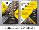 business brochure. flyer design.... | Shutterstock .eps vector #691209505