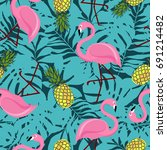 vector seamless pattern with... | Shutterstock .eps vector #691214482