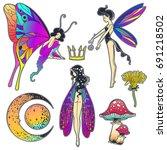 hand drawn beautiful artwork... | Shutterstock .eps vector #691218502