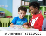 student in international... | Shutterstock . vector #691219222