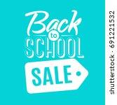 back to school sale emblem...   Shutterstock .eps vector #691221532