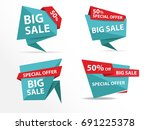 colorful shopping sale banner... | Shutterstock .eps vector #691225378