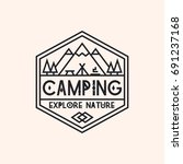 camping logo consisting of... | Shutterstock . vector #691237168