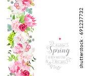 vertical seamless line garland... | Shutterstock .eps vector #691237732