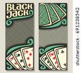 vector banners for blackjack... | Shutterstock .eps vector #691238542
