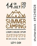 Summer Camping Poster With...