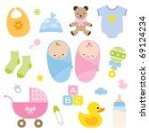 Vector Illustration Of Babies...