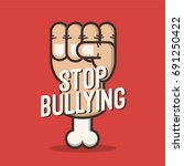 stop bullying poster... | Shutterstock .eps vector #691250422
