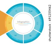 infographic circle template.... | Shutterstock .eps vector #691255462