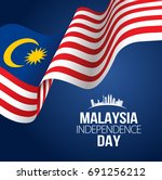 vector ilustration of malaysia... | Shutterstock .eps vector #691256212
