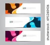 vector abstract design banner... | Shutterstock .eps vector #691260436