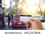 credit card to make a payment... | Shutterstock . vector #691267846