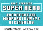 superhero bold set style... | Shutterstock .eps vector #691269442