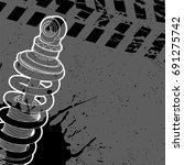 shock absorber stand on... | Shutterstock .eps vector #691275742