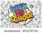 concept of education. school... | Shutterstock .eps vector #691276756