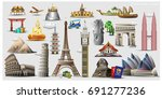trip to world. travel to world. ... | Shutterstock .eps vector #691277236