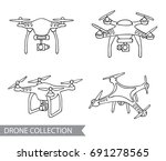 modern air drone  remote... | Shutterstock .eps vector #691278565