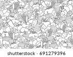 vegetables cartoon doodle... | Shutterstock .eps vector #691279396