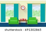 interior of living room with... | Shutterstock . vector #691302865