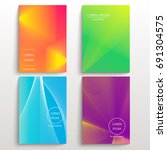 set of cards with blend liqud... | Shutterstock .eps vector #691304575