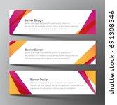 web banner design background... | Shutterstock .eps vector #691308346