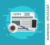 flat vector. news concept....   Shutterstock .eps vector #691312165