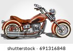classic vintage motorcycle. | Shutterstock .eps vector #691316848
