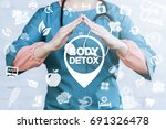 body detox life style health... | Shutterstock . vector #691326478