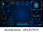 abstract empty hud ui screen... | Shutterstock .eps vector #691327072