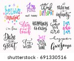 lettering photography overlay... | Shutterstock .eps vector #691330516