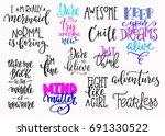 lettering photography overlay... | Shutterstock .eps vector #691330522