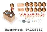 food order acceptance. online... | Shutterstock .eps vector #691335952