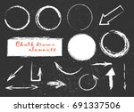 chalk or pencil drawn graphic... | Shutterstock .eps vector #691337506