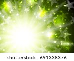 glowing bright green background ... | Shutterstock .eps vector #691338376