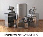 home appliances. household... | Shutterstock . vector #691338472
