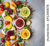 concept of healthy vegetable...   Shutterstock . vector #691340878