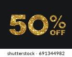 the vector luxury golden... | Shutterstock .eps vector #691344982